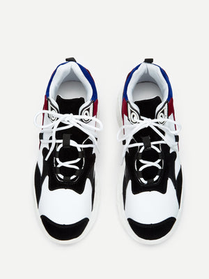 Men's Shoes - Lace Up Chunky Sole Trainers