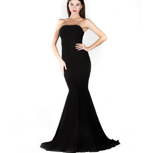 Women Dresses - Black Mermaid Dress