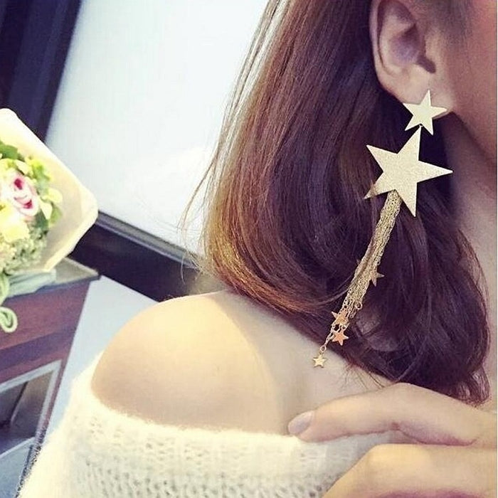Earrings - Tassel earrings Korean ear jewelry ear nail