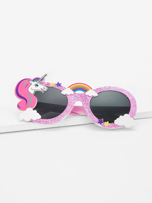 Kids Sunglasses - Girls Cartoon Animal Decorated Sunglasses