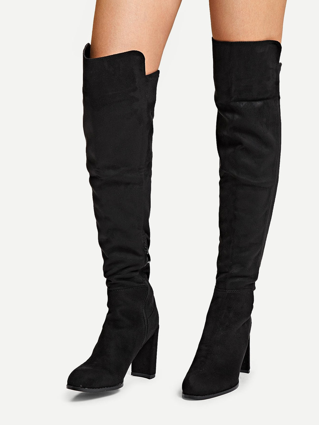 Women Boots - Suede Over The Knee Boots