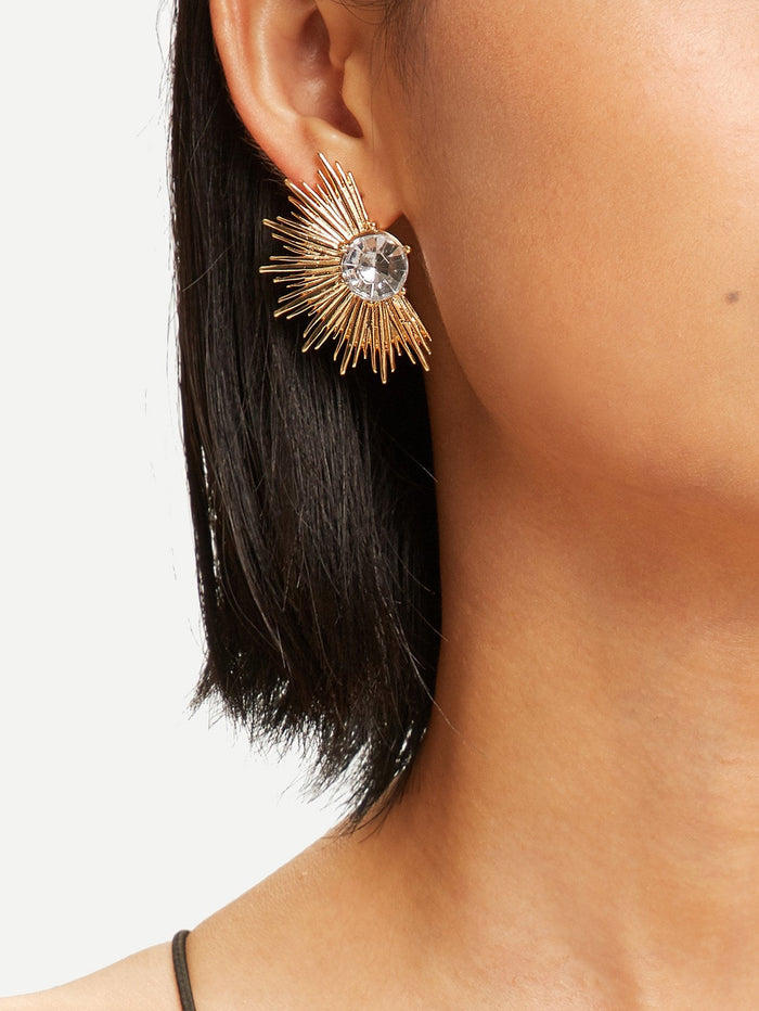 Earrings - Fan Shaped Stud Earrings