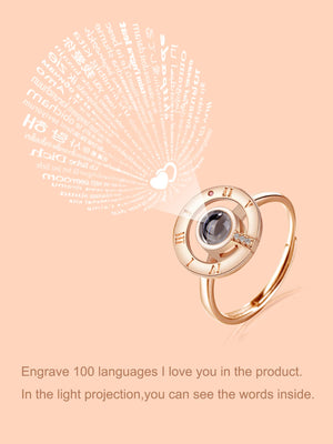 Fashion Rings - Light Projection Rhinestone Ring
