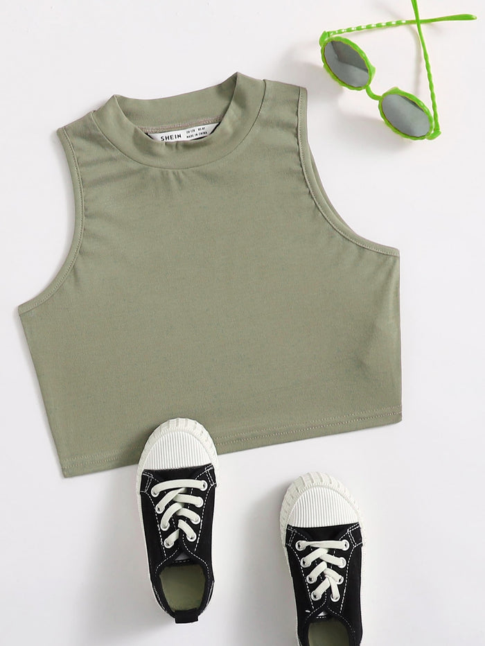 Girls Solid Tank Top