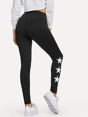 Leggings For Women - Star Pattern Leggings