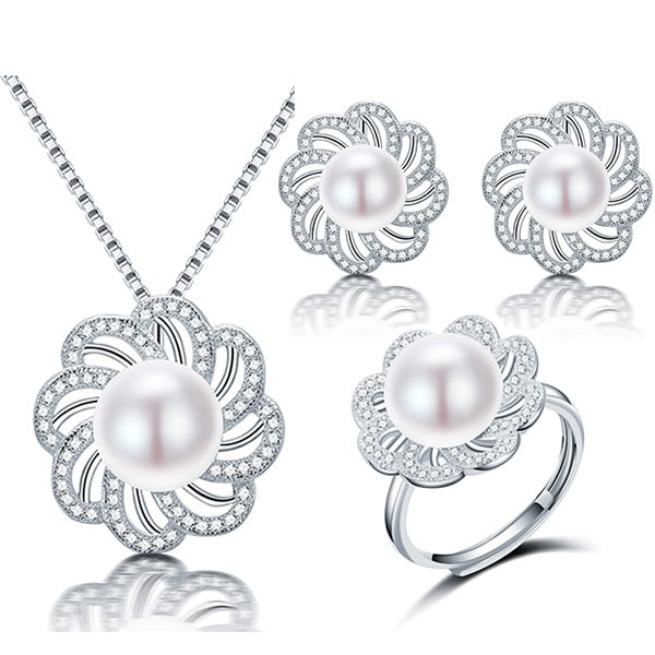 Jewelry For Women - Zircon Flower Jewelry Set