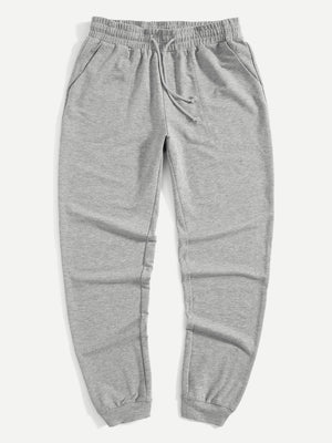 Pajama Pants - Men Drawstring Pocket Side Sweatpants