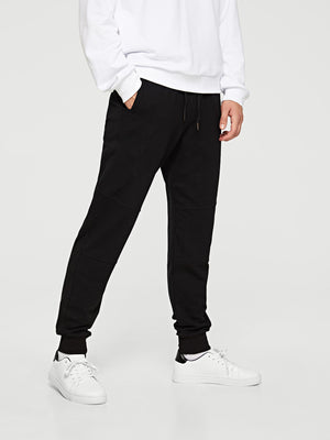 Men's Activewear Pants - Patched Drawstring Joggers