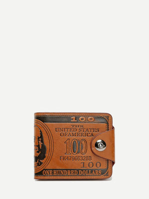 Men's Wallets - Slogan Print Fold Over Wallet