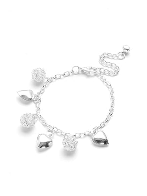 Bracelets For Women - Heart Charm Link Bracelet