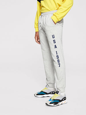 Men's Activewear - Waist Drawstring Letter Pants