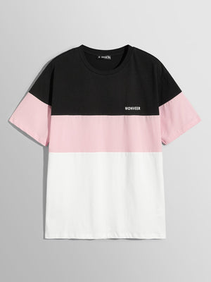 Men's Tees - Letter Front Color Block Tee