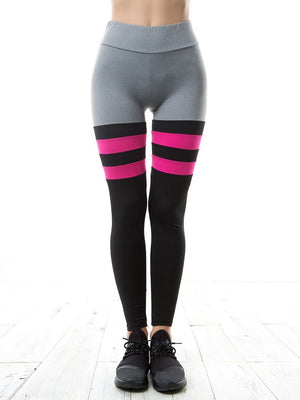 Leggings - Color Block Striped
