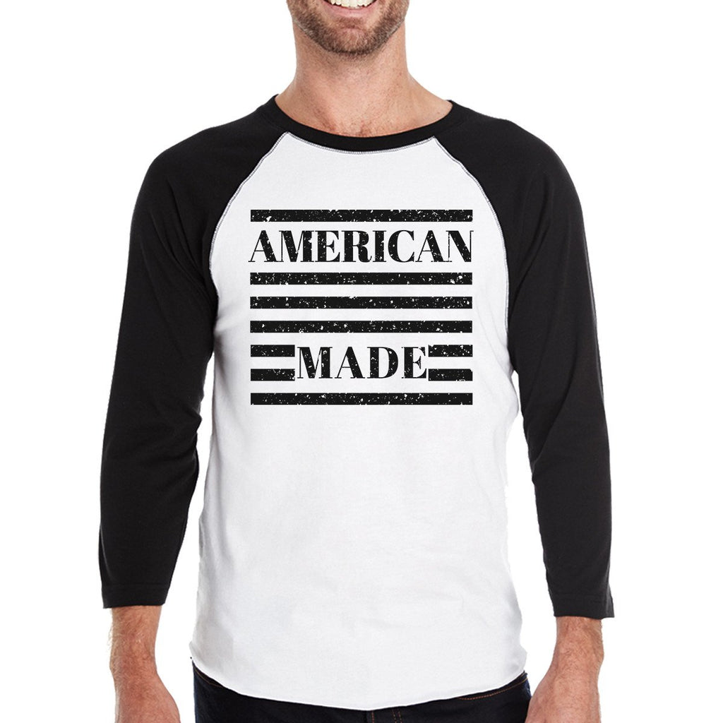American Made Humorous Design Mens Raglan T Shirt Gifts For Him
