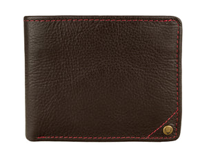 Best Leather Wallets - Hidesign Angle Stitch Leather Slim Bifold Wallet