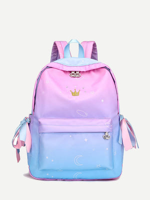 Backpacks For Girls - Crown Detail Bow Tie Backpack
