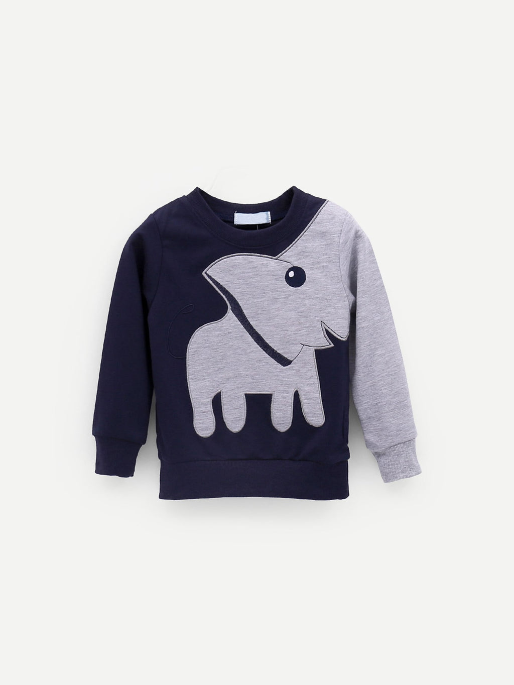 Toddler Boy Sweatshirt - Elephant Print Sweatshirt
