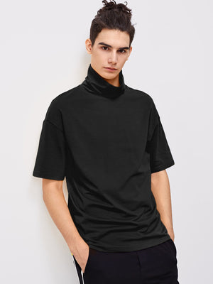 T-Shirts For Men - High Neck Half Sleeve Tee