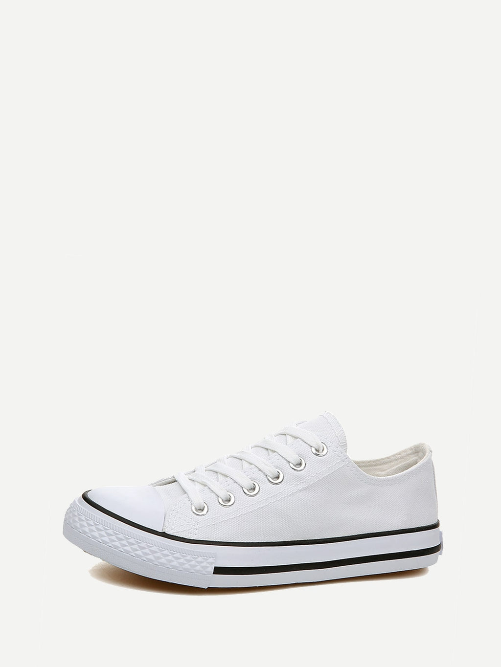 Men's Shoes - Lace-up Canvas Sneakers