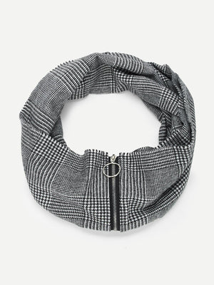 Scarves For Women - Zipper Decorated Infinity Scarf