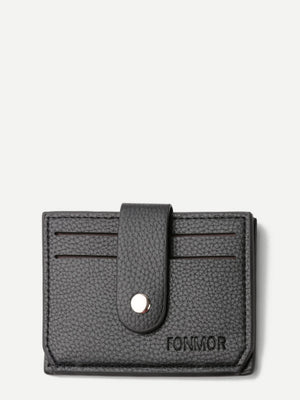 Men's Wallets - Magnetic Button PU Wallet