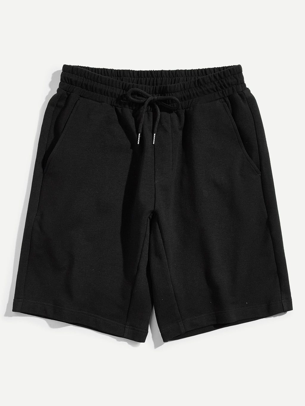 Men's Shorts - Drawstring Waist Solid Sweat Shorts