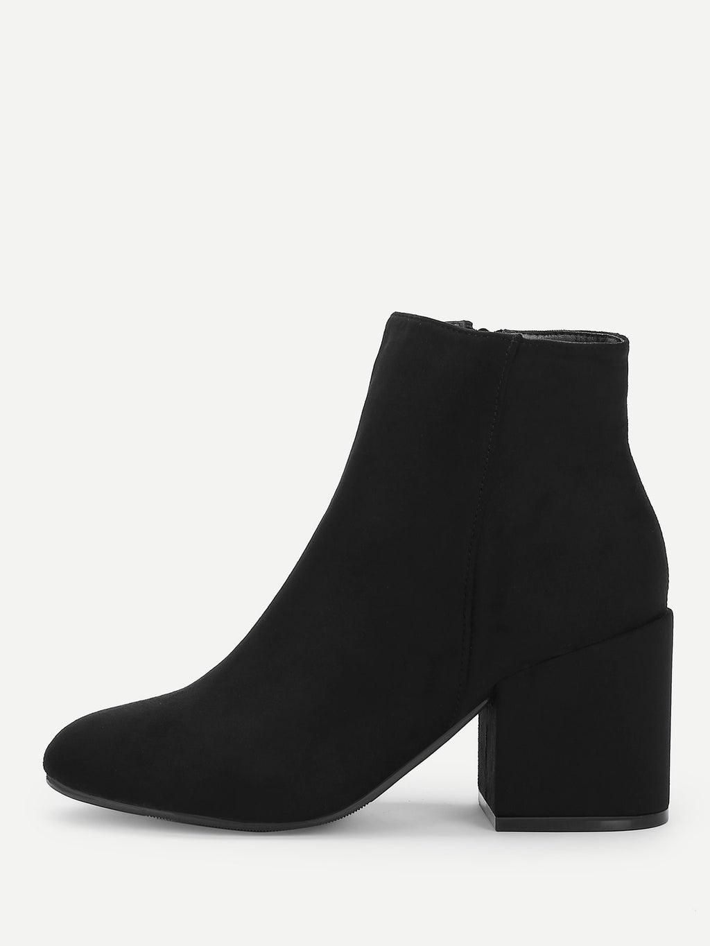 Formal Boots - Plain Block Heeled Ankle Boots