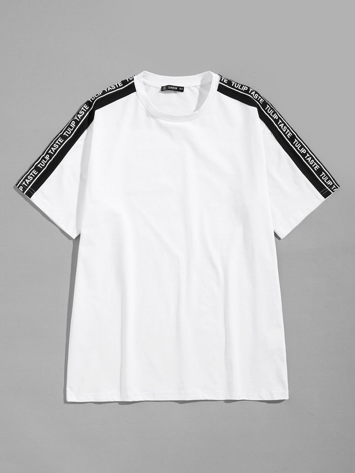 T-Shirts For Men - Letter Print Tunic Tee