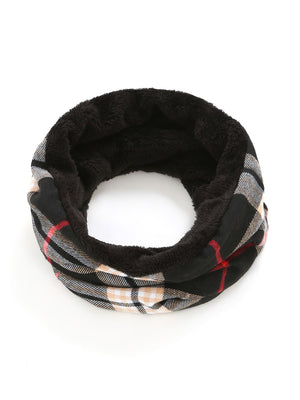 Scarves For Women - Faux Fur Plaid Infinity Scarf