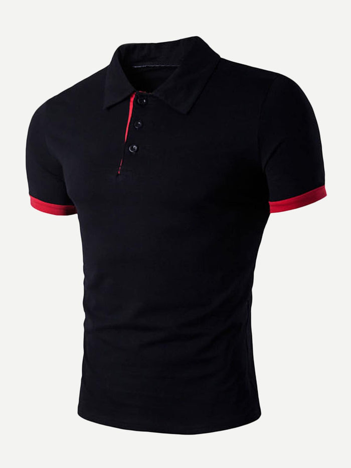 Men's Tops - Solid Polo Shirt