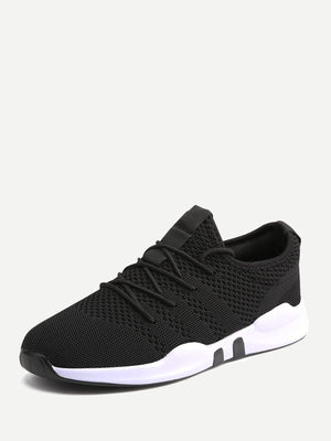 Running Shoes For Men - Lace-up Mesh Sneakers