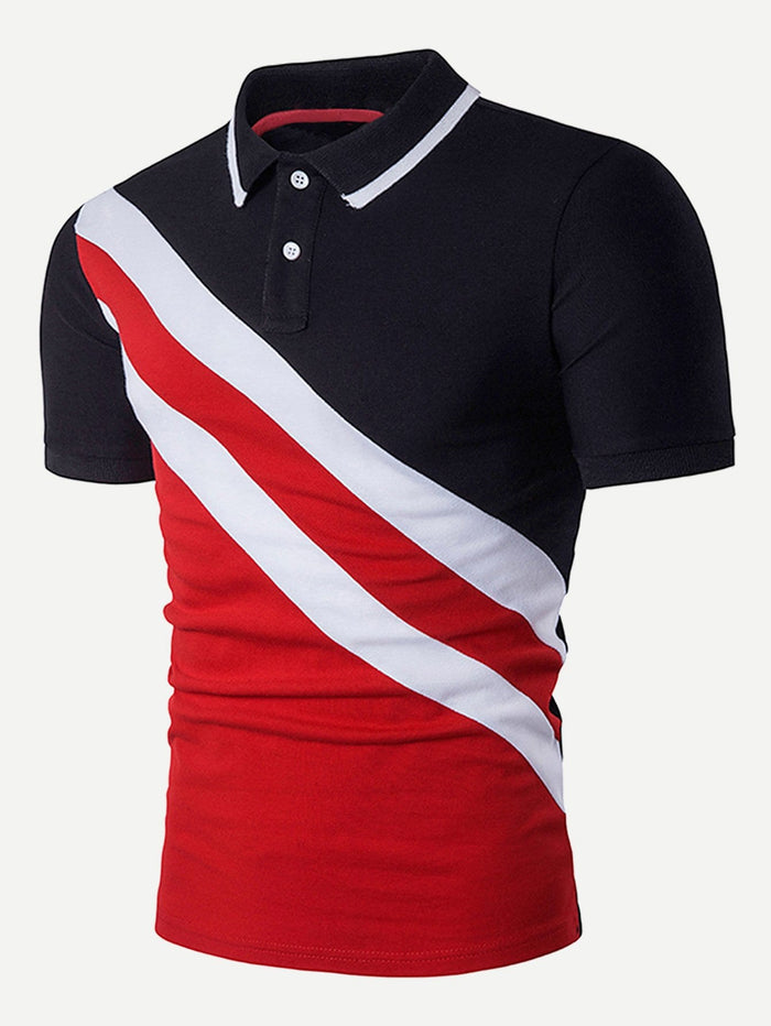 Men's Tops - Cut And Sew Polo Shirt