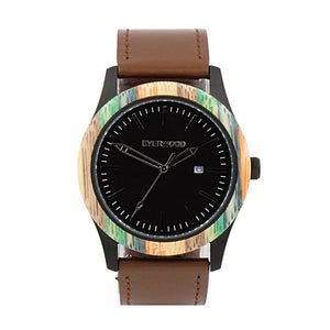Men's Watches - Inverness | Multi Bamboo | Brown Leather