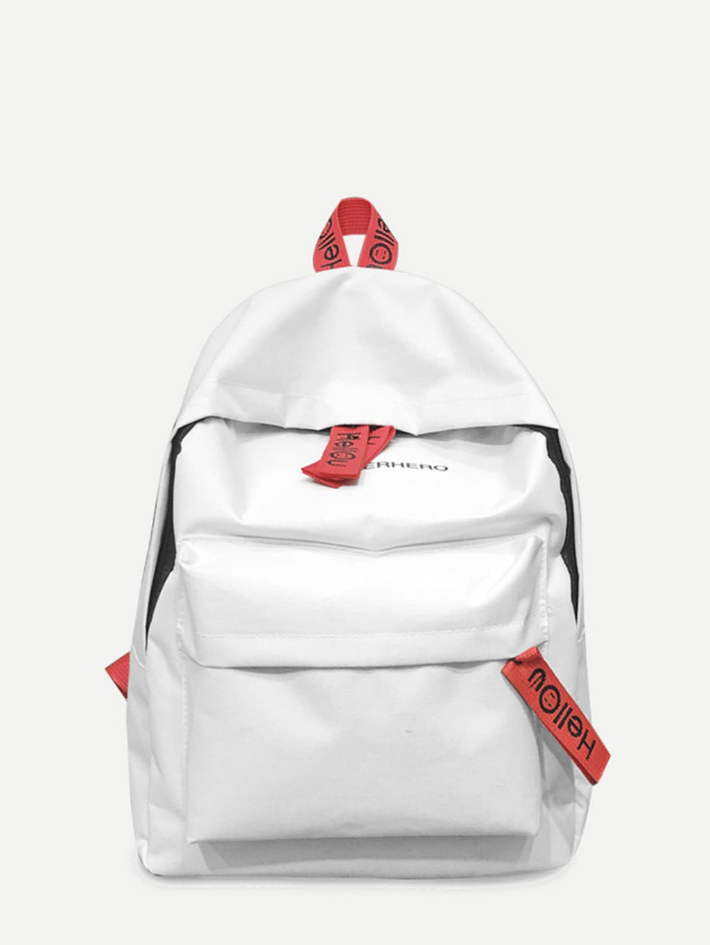 Bags For Women - Slogan Detail Pocket Front Backpack