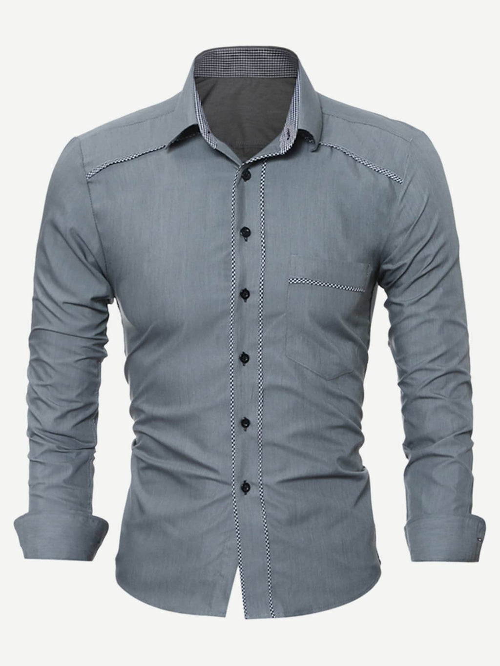 Men's Formal Shirts - Contrast Trim Shirt