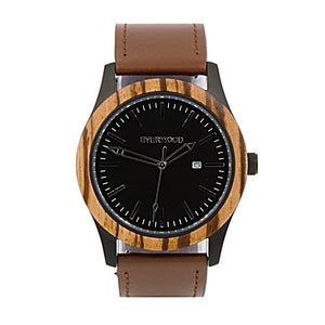 Men's Watches - Inverness | Zebrawood | Brown Leather