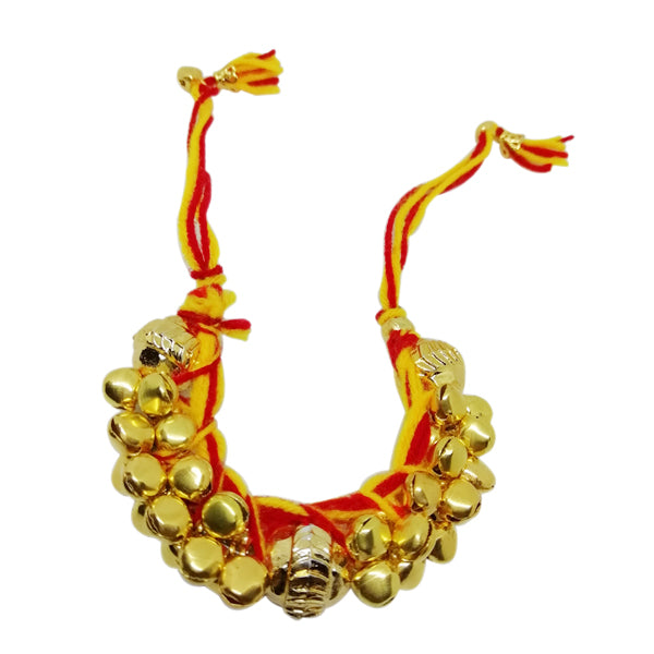 1 Rakhi - Golden Ghunghru Lumba Rakhi For Girls