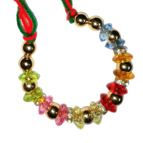 Fancy Lumba Rakhi - Multicolor Beads Rakhi