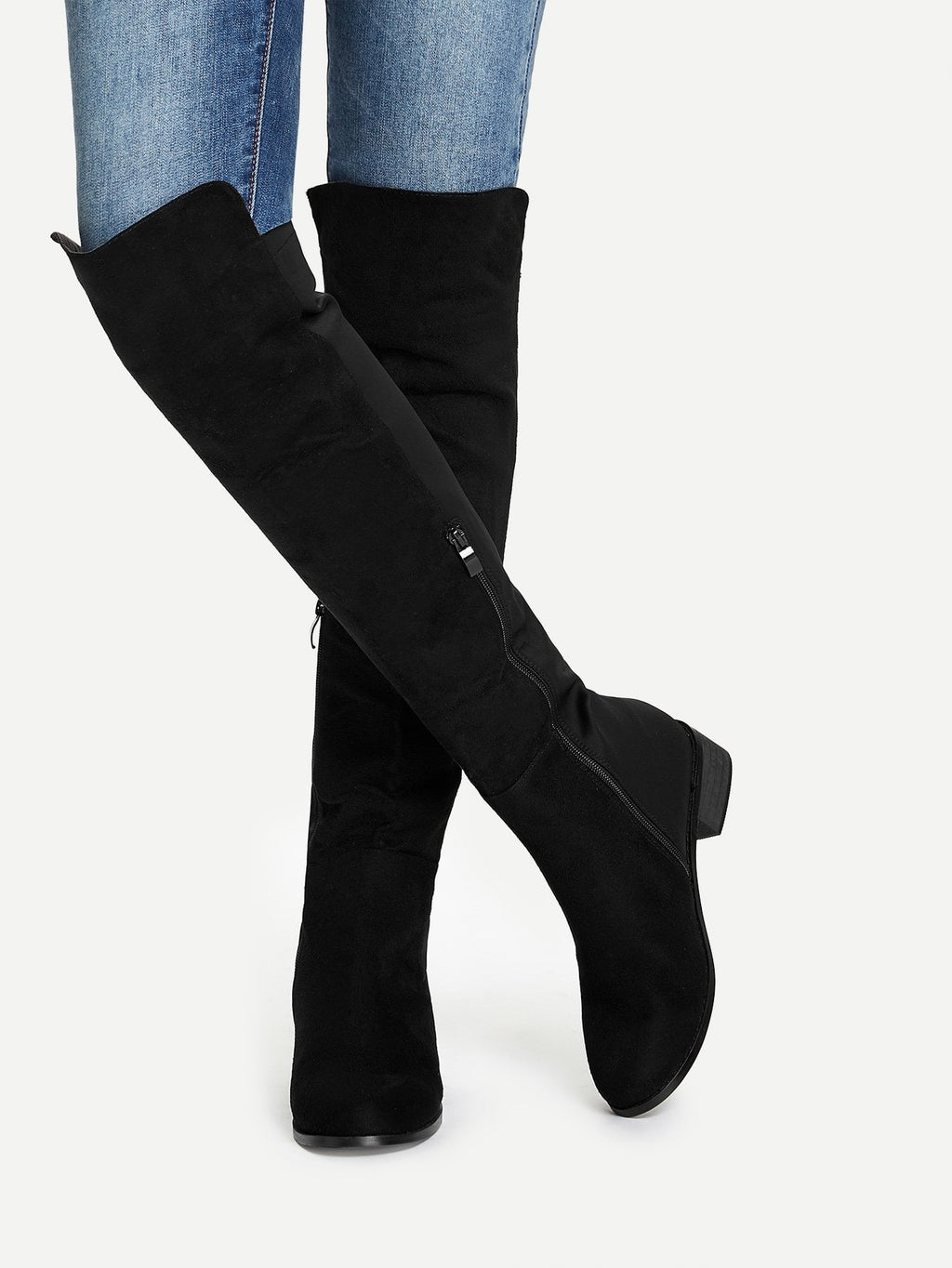 Women Boots - Knee Length Plain Boots