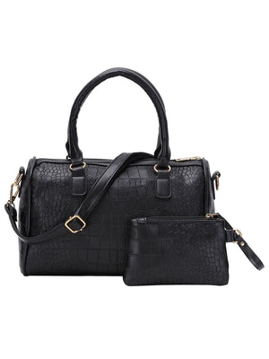 Work Bags - 5pcs Faux Crocodile Embossed Leather Bag Set