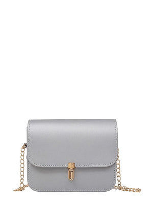 Ladies Wristlets - PU Flap Shoulder Bag With Chain