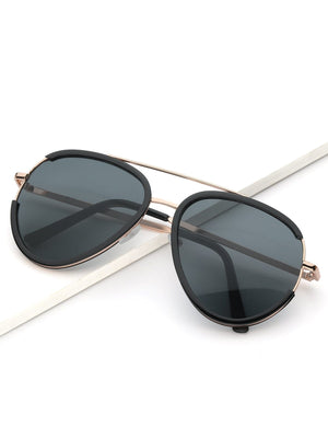 Men's Sunglasses -  Metal Frame Top Bar Sunglasses