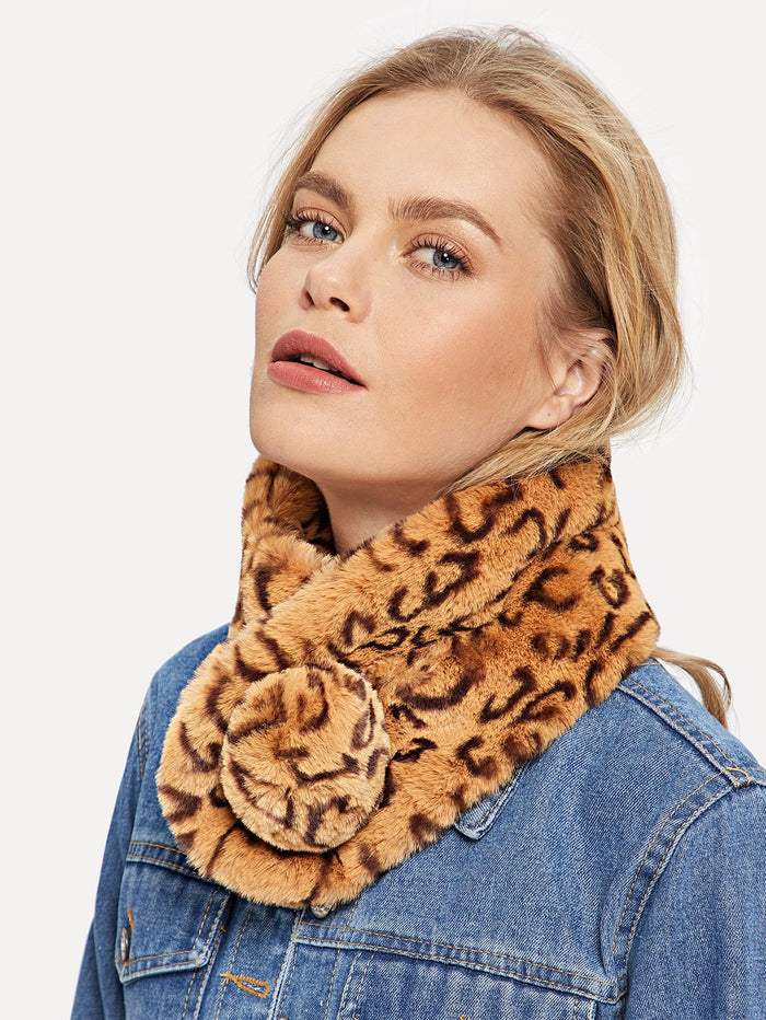 Scarves For Women - Leopard Tippet Scarf