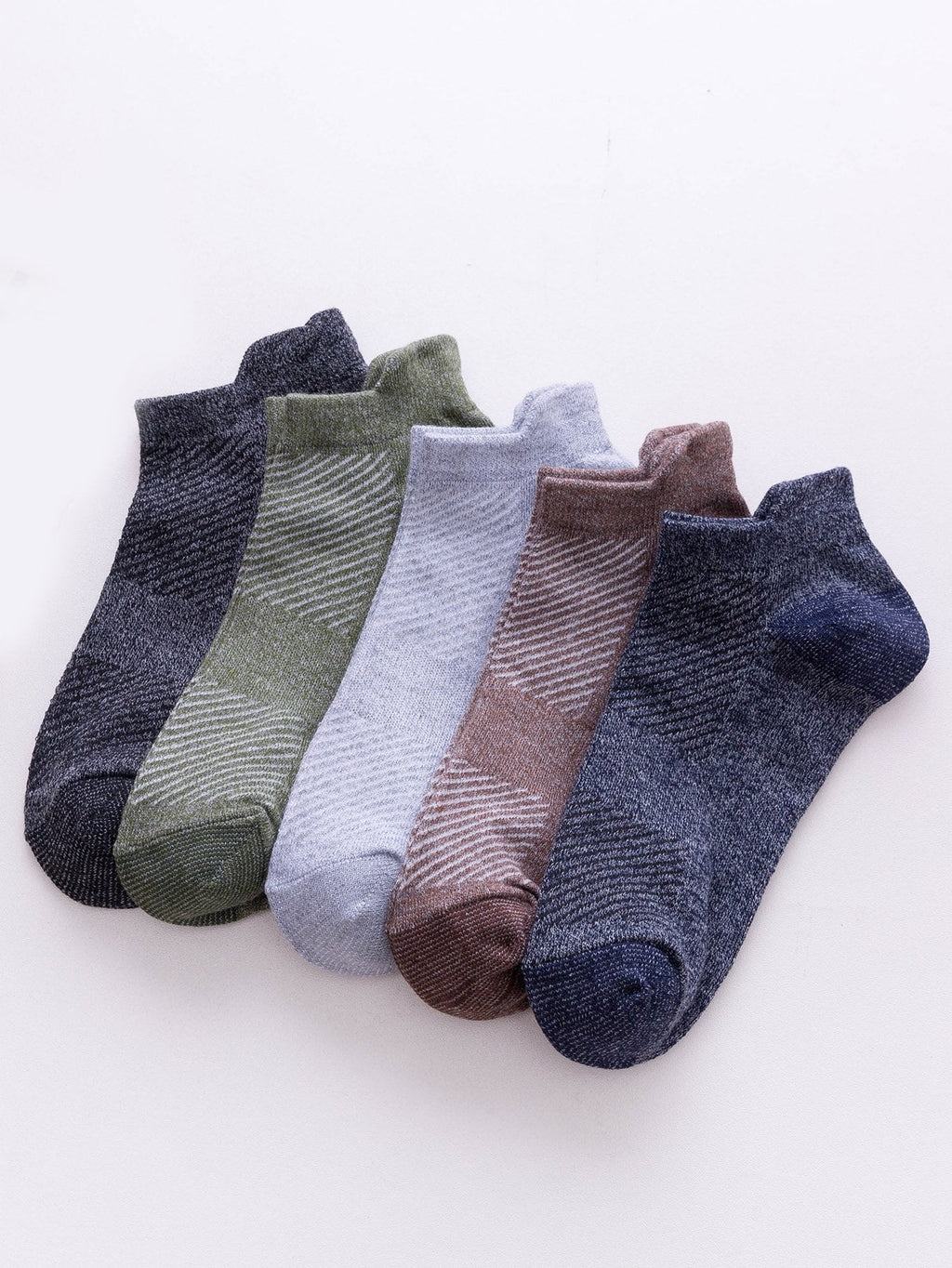 Men's Socks - Striped Ankle Socks 5pairs