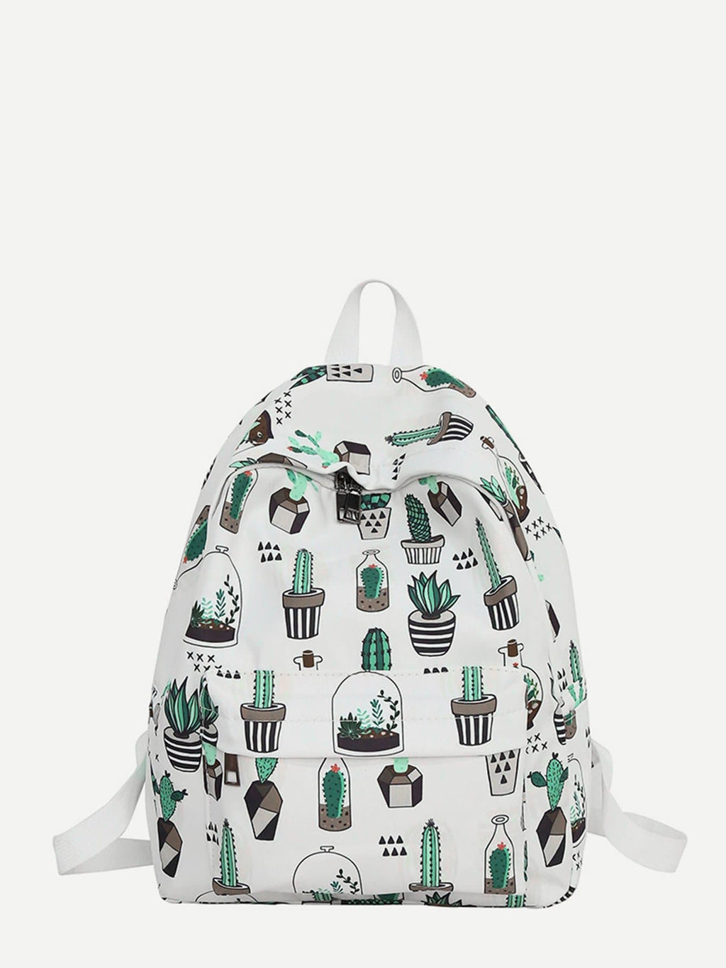 Bags For Women - Cactus Print Backpack