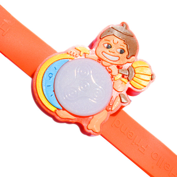 Kids Rakhi - Bal Hanuman Rakhi With Gada