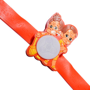 Kids Rakhi - Bal Hanuman Rakhi  - Multiple Lights