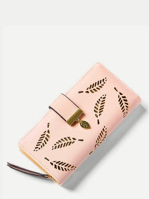 Wristlets - Leaf Detail Fold Over Purse