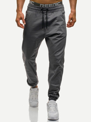 Sports Tights For Men - Solid Drawstring Pants