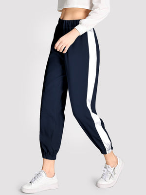 Women's Pants - Contrast Tape Side Pants